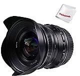 PERGEAR 12mm F2 Objetivo Gran Angular de Enfoque Manual, Compatible con Las cámaras Fuji con Montura-X X-A1 X-A10 X-A2 X-A3 XM2 X-T1 X-T3 X-T10 X-T2 X-T20 X-T30 X-Pro1 X-Pro2 X-E1 X-E2 E-E2s X-E3