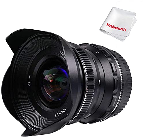 PERGEAR 12mm F2 広角マニュアルフォーカス単焦点レンズ APS-C Nikon Zマウントカメラ対応 Z6 Z7 Z50に適用 (Nikon Zマウント)
