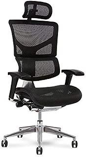 X Chair X2 Executive Task Chair, Black K-Sport Mesh with Headrest