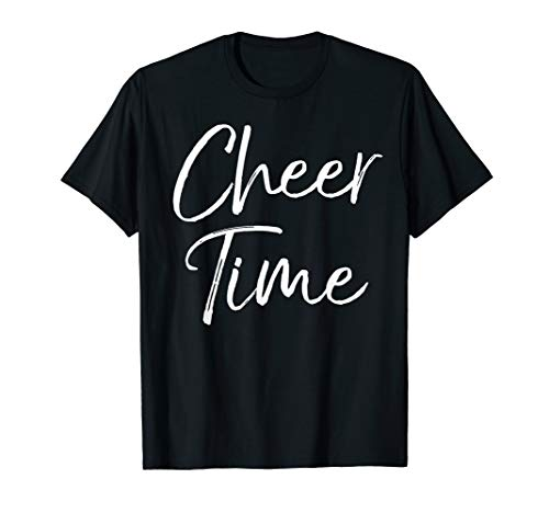Cute Cheerleading Practice Outfit for Cheerleader Cheer Time T-Shirt