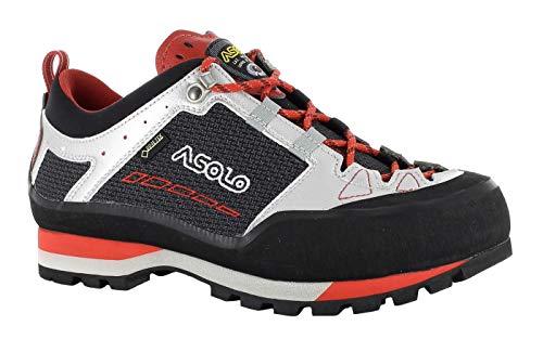 Asolo Freney Low GV MM Chaussures basses imperméables pour homme avec Goretex - Noir - Noir/argenté, 43 2/3 EU