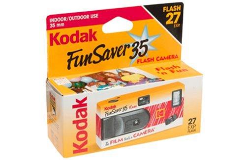 Kodak Fun Saver 35 Flash Camera, 6 Cameras (162 exposures)