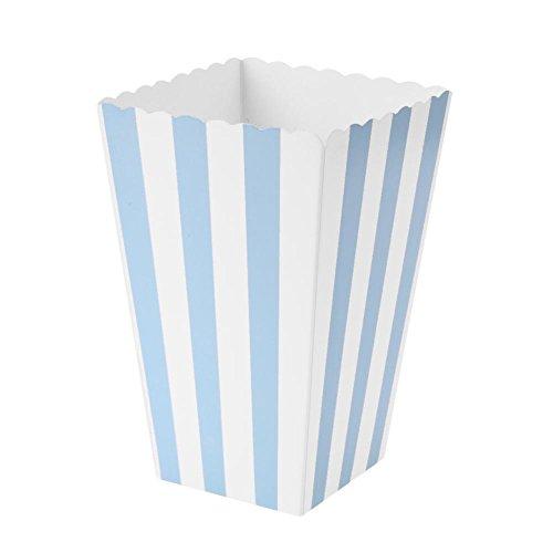 Everpert - Cajas de palomitas para bodas, fiestas, etc. (12 unidades) azul