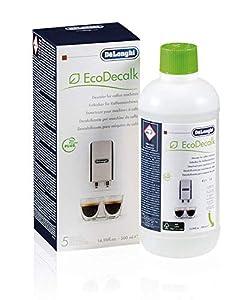 De'longhi Ecodecalk - Líquido descalcificador universal, cafeteras superautomáticas, 500 ml, ecológico y eficiente, compatible cafeteras modelos ECAM / ETAM