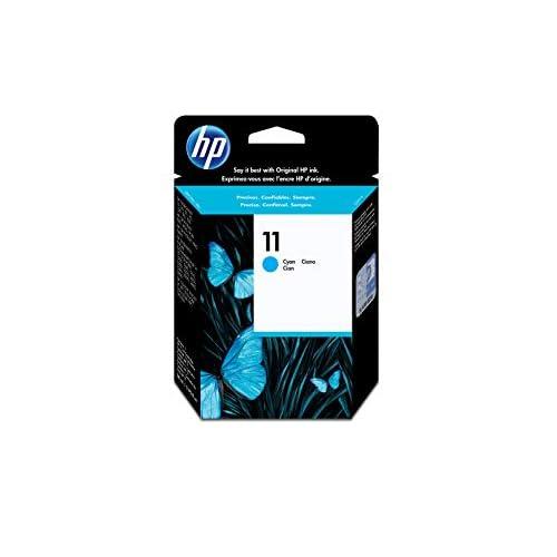 HP 11 C4836A, Cartuccia Originale, da 2.350 Pagine, Compatibile per Stampanti a Getto di Inchiostro HP 2500cm, Business Inkjet 3000dtn, Designjet 815 e 820 MFP, Designjet serie 500 e 500 Plus, Ciano