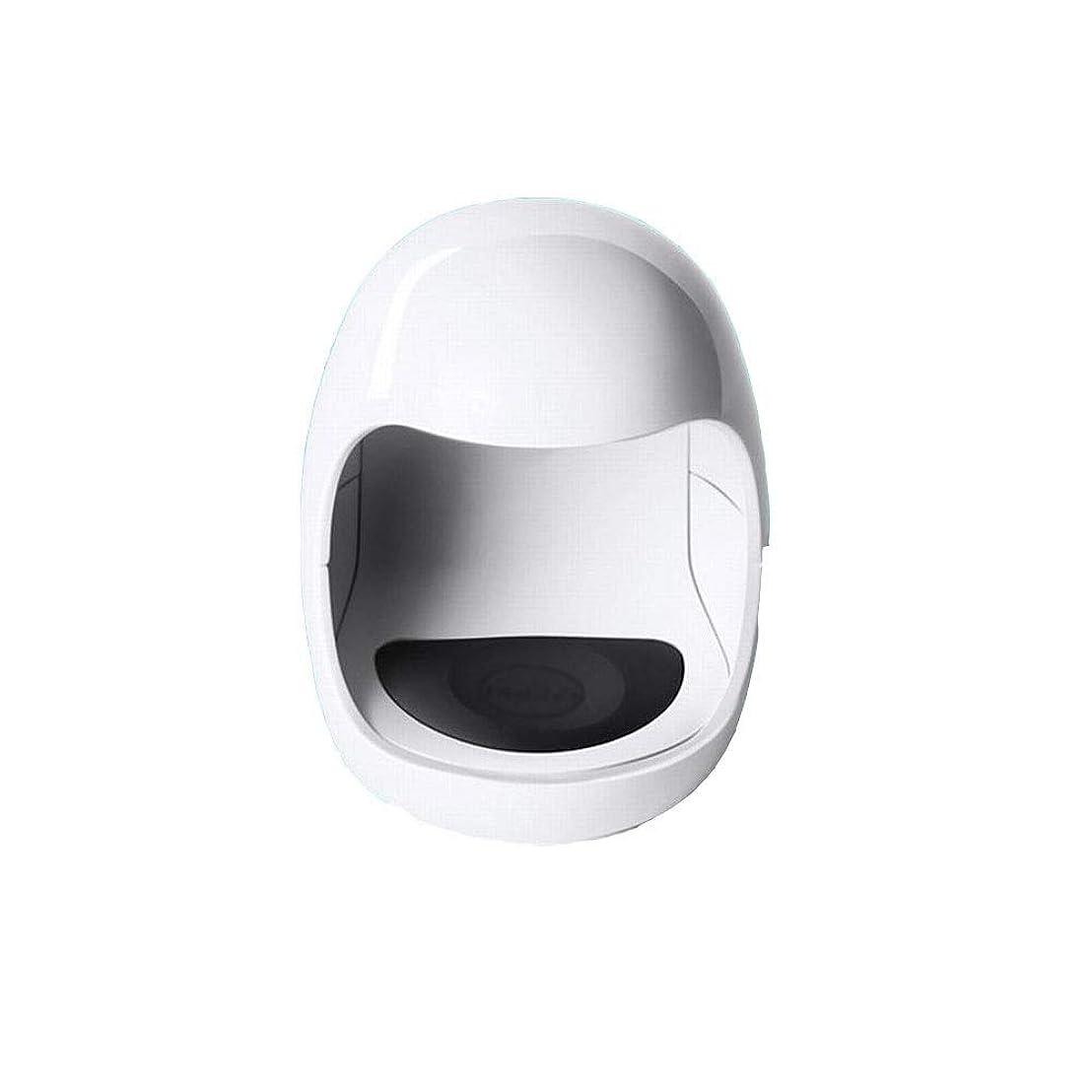 YESONEEP ミニ光線療法機ミニシングルフィンガーネイルライトセラピーライトUSB日光LED速乾性ネイルオイルグルーベーキングランプ (色 : White)