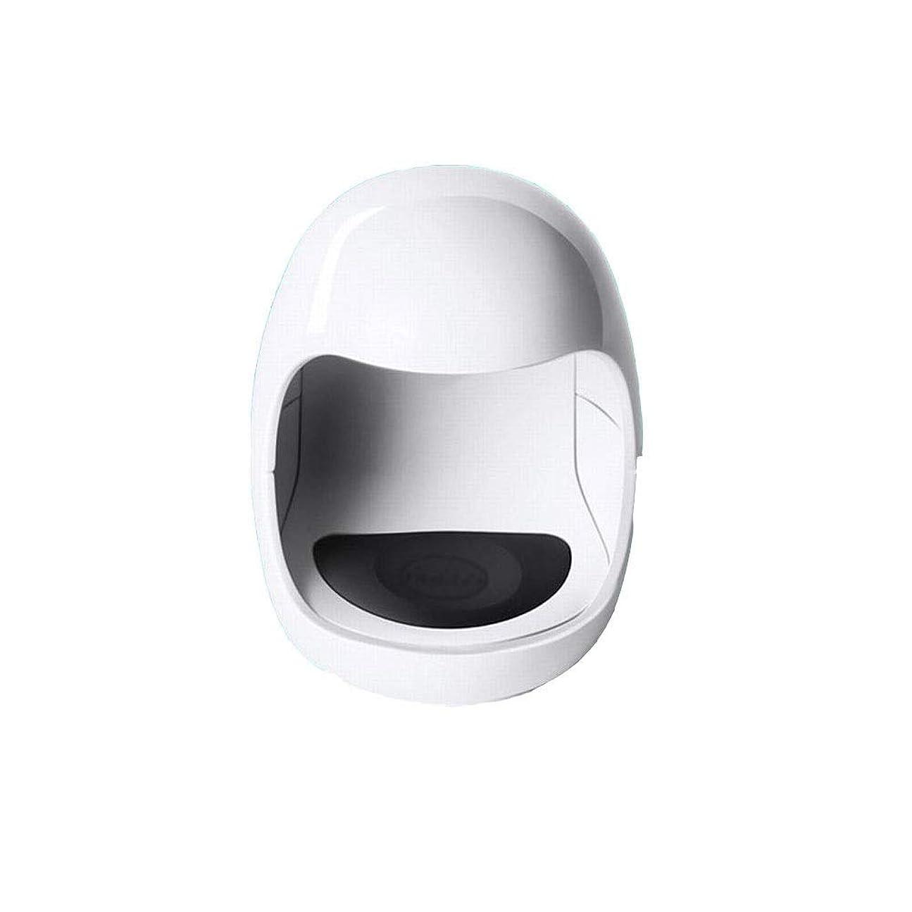 お手入れ社会押すYESONEEP ミニ光線療法機ミニシングルフィンガーネイルライトセラピーライトUSB日光LED速乾性ネイルオイルグルーベーキングランプ (色 : White)