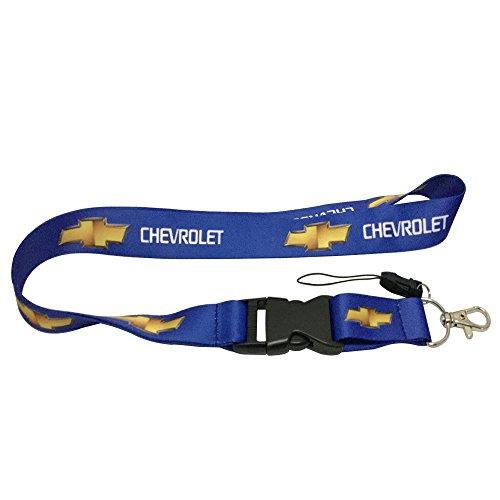 1pcs Blue Color USA Ship New Quick Release Neck Strap Lanyard Keychain Keyring Car Keys House Keys ID Badges Card for Chevrolet Design