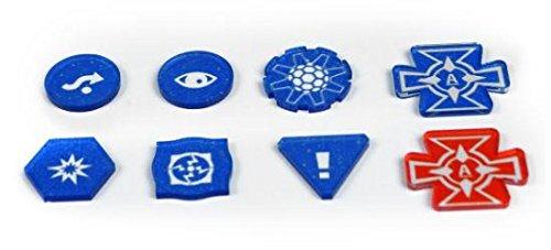 E-Raptor ERA31784 marcadores X-Wing Juego Completo de Tokens Juego de Mesa, Azul
