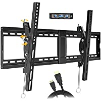 Juststone Tilting TV Wall Mount Bracket with 16-24 Inch Wood Studs (Black)