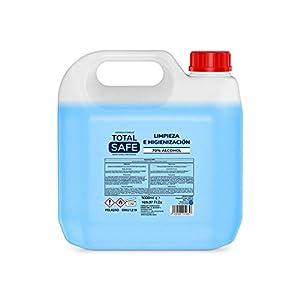 Total Safe – Solucion Hidroalcohólica Garrafa 5L con 70% de Alcohol sin aclarado | Higienizante de Manos 5000ml