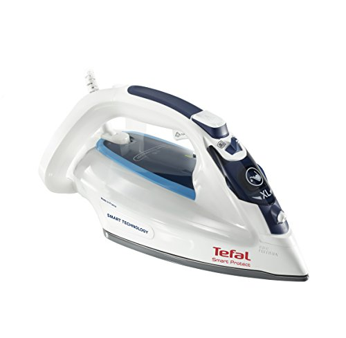Tefal FV4980 Smart Protect Steam Iron, No Burning, One Setting, 2600 W, White/Blue