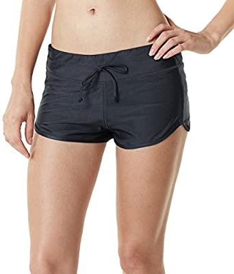 TSLA Women's Tankini Shorts Swimsuit Quick Dry Water Beach Board Bottom FSB Series