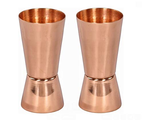 Set of 2 Premium Quality Copper Shot Glasses/Jiggers  by Alchemade