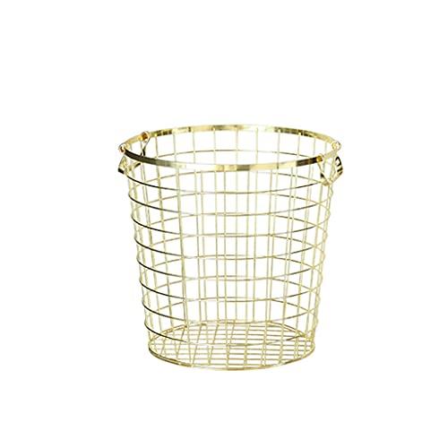 Cesta de almacenamiento pequeña Grandes cestas de lavandería Cesta de acero inoxidable Curtidor de lavandería con mango de almacenamiento Cesta de ropa sucia Toys para baño y apartamento portátil y du