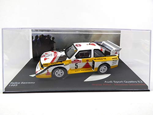 OPO 10 - Kompatibel mit Audi Sport Quattro E2 1/43 Rallye Sanremo 1985 ROHRL (MAR04)