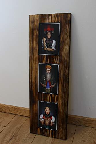 """JOKA International - Black Forest Schwarzwaldbilder auf Holz """"Gertrud"""" 60 x 20 x 1.5 cm Design trifft Geschichte, eine perfekte Kombination aus modern und rustikal. (Originale von Sebastian Wehrle)"""