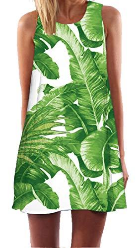 Ocean Plus dames zomer mouwloos bont tops kleding pauw bloemen strandjurken uil kort A-lijn jurk cover up