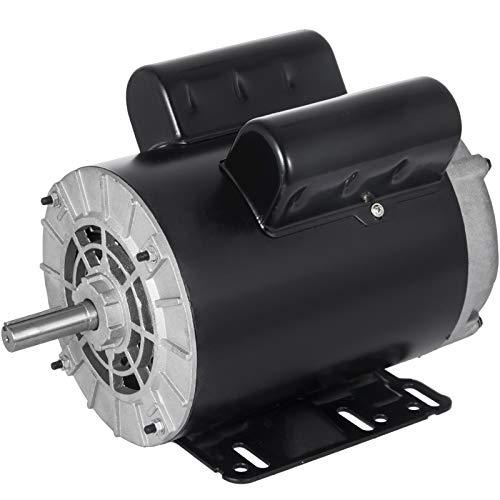 Mophorn 3 HP Electric Motor 1 Phase AC Motor 3450rpm 60Hz 56 Frame SPL Rot-CCW Air Compressor Motor, 115/230V