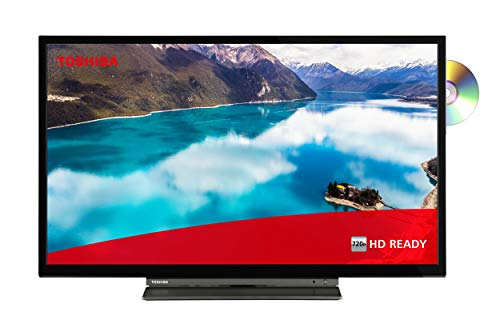 Toshiba 32WD3C63DAX 32 Zoll Fernseher (HD ready, Smart TV inkl. Prime Video / Netflix, Bluetooth, DVD-Player, Triple Tuner, Works with Alexa)
