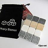 HAPPYGOU 100% Natural Whisky Stones Sipping Ice Cube Whisky Stone Whisky Rock Cooler Regalo de Boda Favor Christmas Bar