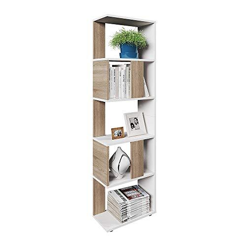 Vicco Raumteiler Raumtrenner Bücherregal Standregal Aktenregal Hochregal Aufbewahrung Regal (Sonoma Eiche (klein))