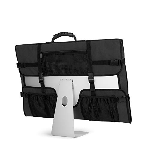 CURMIO Bolsa para Ordenador iMac, Bolsa iMac 21.5'de Apple, Funda Protectora para iMac, Funda de Polvo con Manija de Goma para iMac 21.5' y Accesorios, Negro