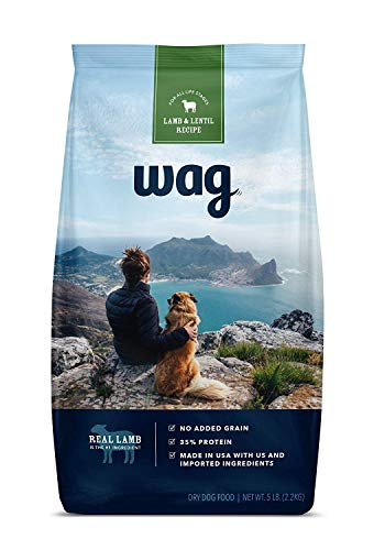Amazon Brand - Wag Dry Dog Food Lamb and Lentil Recipe (5 lb. Bag) Trial