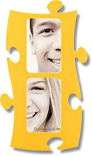 Puzzle Rahmen, 2 mal 10x15cm - gelb