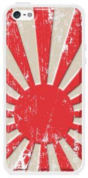 id America Cushi Plus Flag, Skin Adesiva Posteriore ad Effetto Cuscino Morbido 3D ad Alta Protezione per iPhone 5/5s, Grafica Bandiera Giapponese
