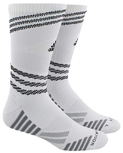 adidas Unisex Speed Mesh Basketball/Football Team Crew Sock Größe L Weiß/ Lgh Solid Grey/ Light Onix/ Schwarz