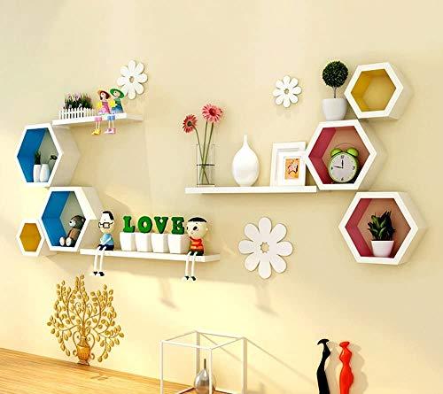 lqgpsx Wandbehang Gitter Regal Wand TV Hintergrund Wandrahmen Mode Wild Umweltfreundliche Folie Korrosionsschutz Und Feuchtigkeitsbeständige Separator