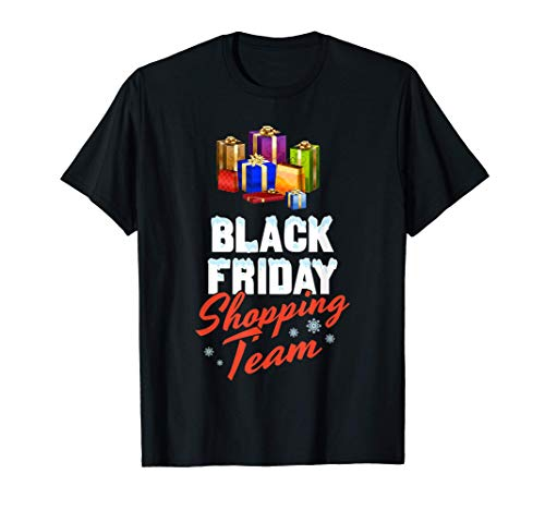 Black Friday Shopping Team Vendita Negozio Shopper Pazzo Acq Maglietta