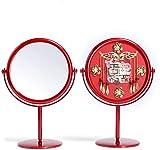 KELITINAus Vanity Makeup Mirror 2Pc Boda Maquillaje Espejo Novia Rojo Vanity Mirror Chino Dowry Hi Espejo Decktop Vestido Espejo Decoración de la Boda Decoración Cosmetic Mirror
