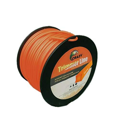 Topolenashop - Hilo para desbrozadora, corte de hierba cuadrado de 2,4 mm, bobina de 100 metros