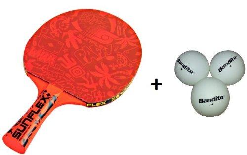 Sunflex Tischtennisschläger BOY`S EDITION NO. 1 + 3 Bandito-Bälle
