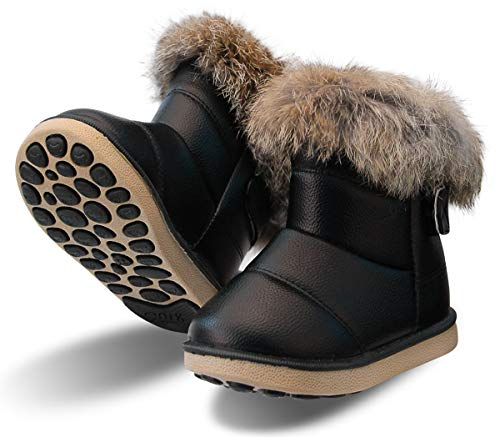 [WYSBAOSHU] [Amazon限定ブランド]キッズブーツ スノーブーツ 子供 保暖 防滑 防寒 防水 暖かい キッズ 男の子 女の子 ベビー 中綿入り 雪用 裏起毛 雪遊び 通学 外出 冬靴 裏ボア加工 滑り止め プレゼント 贈り物 クリスマス