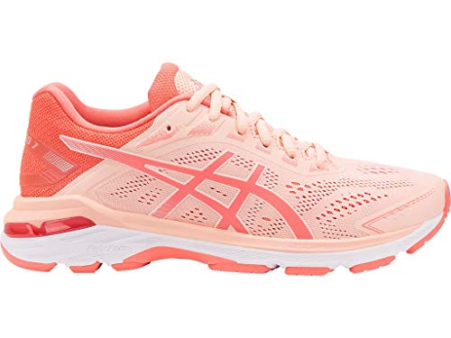 ASICS Women's GT-2000 7 Running Shoes, 9.5M, BAKEDPINK/Papaya