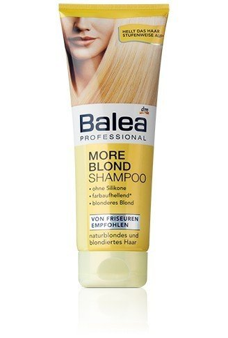 Balea More Blond Shampoo für blondes Haar – 250 ml
