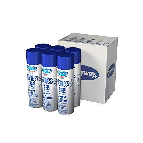 Sprayway SW841 Aerosol Stainless Steel Polish & Cleaner, 15 oz (5 Pack)