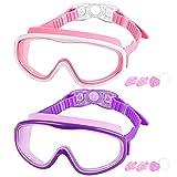 Best Swim Goggles - FULLLOVE Swim Goggles for Kids, 2 Pack Swimming Review