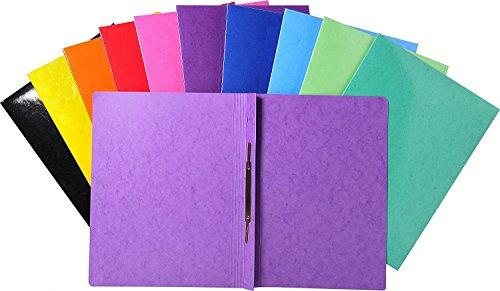Exacompta 380800B Iderama Schnellhefter (beschichteter Karton, DIN A4) 10 Farben, Sortiert, 10 Stück