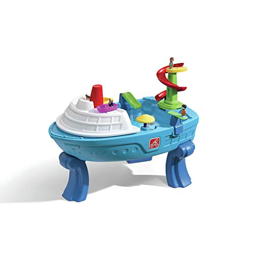 Step2 Fiesta Cruise Sand & Water Table with Umbrella | Kids Outdoor...