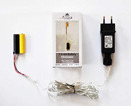 Coen Bakker Batterie Adapter 1 x 2 AA Mignon Batterien 3,2V Wandler 4m Kabel Netzteil
