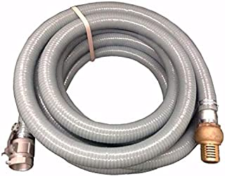 "New 10m 1.5"" Genuine KASA FIRE Suction Water Hose with CAM Lock Brass Foot Valve"