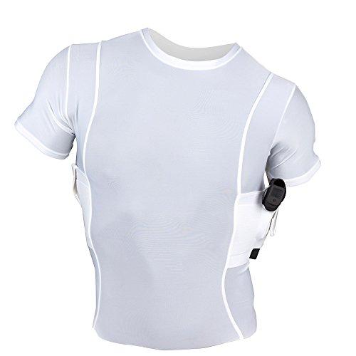 UnderTech UnderCover Men's Concealment Crew Neck Shirt - White - Small