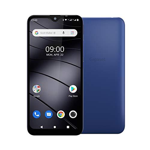 "Gigaset GS110 Smartphone (6,1"" V-Notch HD-Display, Gesichtserkennung, Dual-Sim, 16GB Speicher, 1GB RAM, Akku 3000 mAh, 4G LTE, Android 9.0, Handy, ohne Vertrag) azure blue"