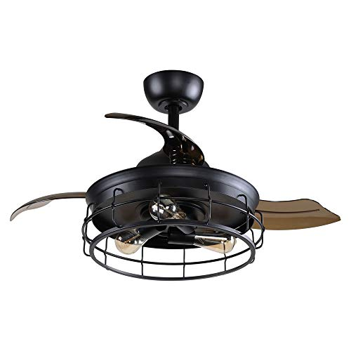 36 Inch Vintage Ceiling Fan with Remote Control and...