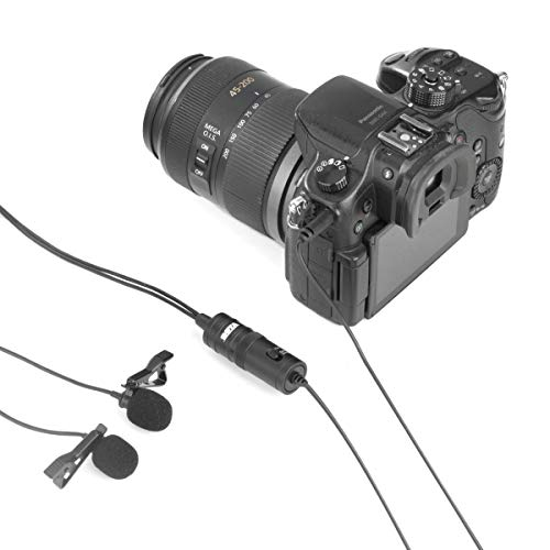 157'' BOYA BY-M1DM Dual-head Lavalier Universele Lapel Microfoon met 1/8 Plug Adapter voor iPhone 8 7 Smartphones Canon Nikon DSLR Camera's Camcorders PC Audio Recorder Podcast Youtube Video Livestream