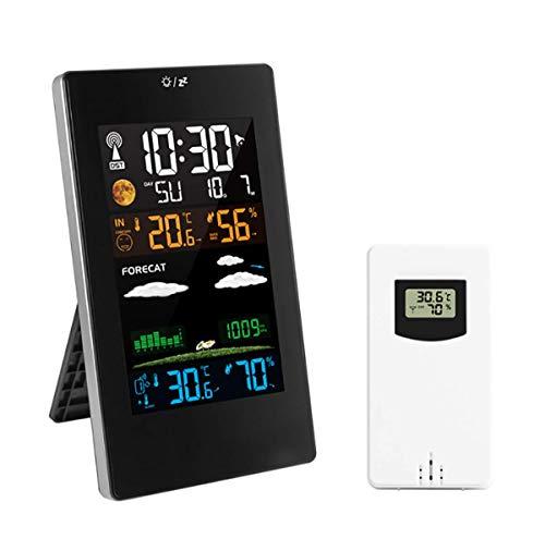 Wetter Wecker, Wireless Temperatur-Feuchtigkeits-Tester Sensor Electronics Uhr Wettervorhersage Digital-Wecker Für Schlafzimmer Und Büro